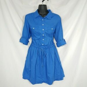GAP Blue Long Sleeve Shirt Dress Skirt